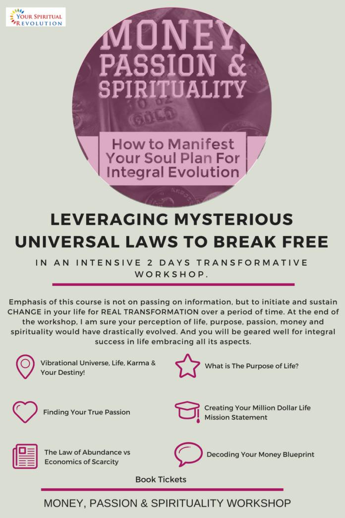 Money, Passion & Spirituality Workshop - Your Spiritual Revolution eMagazine